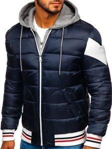 Tmavě modrá pánská sportovní zimní bunda Bolf JK395