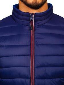 Tmavě modrá pánská sportovní zimní bunda Bolf LY1017