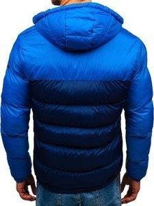 Tmavě modrá pánská zimní bunda Bolf A429