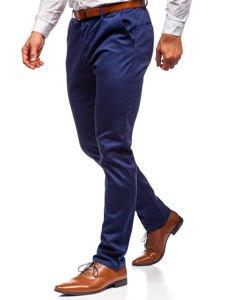 Tmavě modré pánské chino kalhoty Bolf KA968