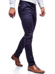 Tmavě modré pánské chino kalhoty Bolf KA969