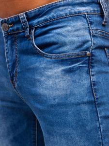 Tmavě modré pánské džíny skinny fit Bolf KX507