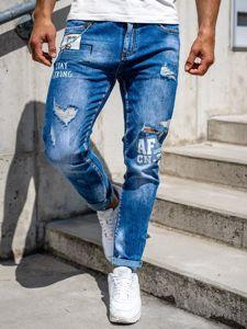 Tmavě modré pánské džíny slim fit Bolf 85006S0