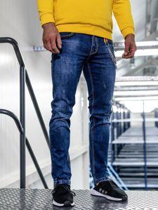 Tmavě modré pánské džíny straight leg Bolf KA1232-1