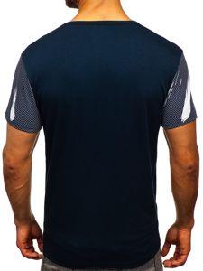 Tmavě modré pánské tričko s potiskem Bolf SS10911