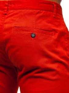 Tmavě oranžové pánské chino kalhoty Bolf 1143