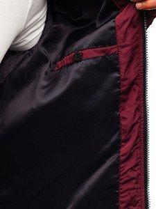 Vínová pánská elegantní přechodová bunda Bolf 1763