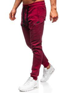 Vínové pánské jogger kalhoty Bolf 11103