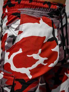 Vínovo-červené pánské jogger kapsáče Bolf 0705