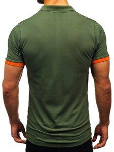Zelená pánská polokošile Bolf 171222