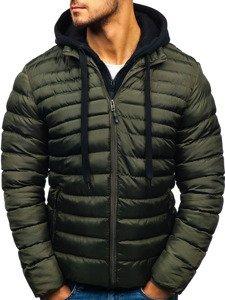 Zelená pánská zimní bunda Bolf SM05