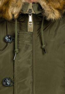 Zelená pánská zimní parka Bolf 1045C