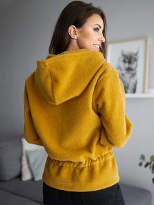 Žlutá dámská bunda s kapucí Bolf 9320