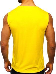 Žluté pánské tílko s potiskem Bolf KS2074