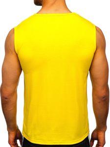 Žluté pánské tílko s potiskem Bolf KS2096