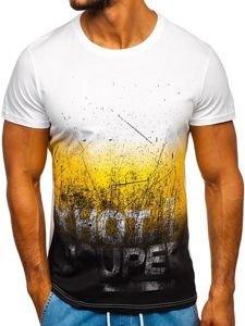 Žluté pánské tričko s potiskem Bolf 100767