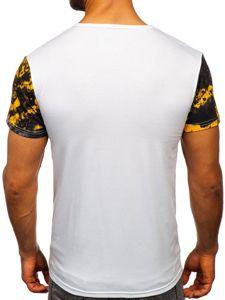 Žluté pánské tričko s potiskem Bolf SS10930