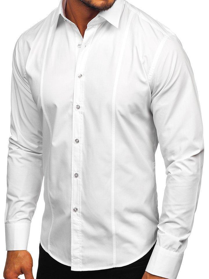 Bílá pánská elegantní košile s dlouhým rukávem Bolf 6944 c41f1140a9