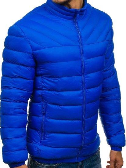 Modrá pánská sportovní zimní bunda Bolf JS516