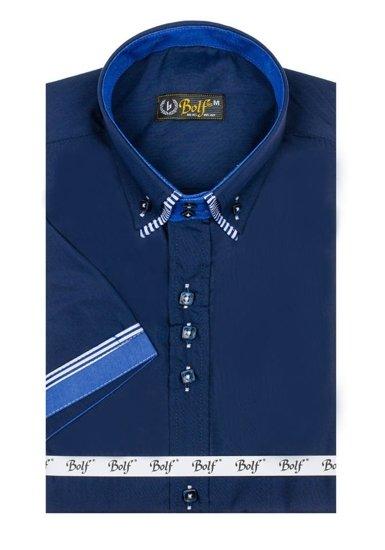 Pánská košile BOLF 2911 tmavě modrá