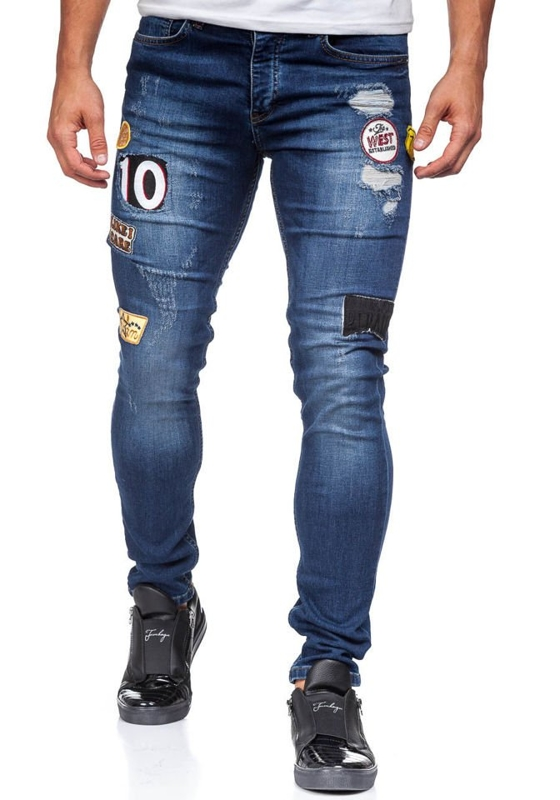 Navy Blue Men's Jeans Bolf 298
